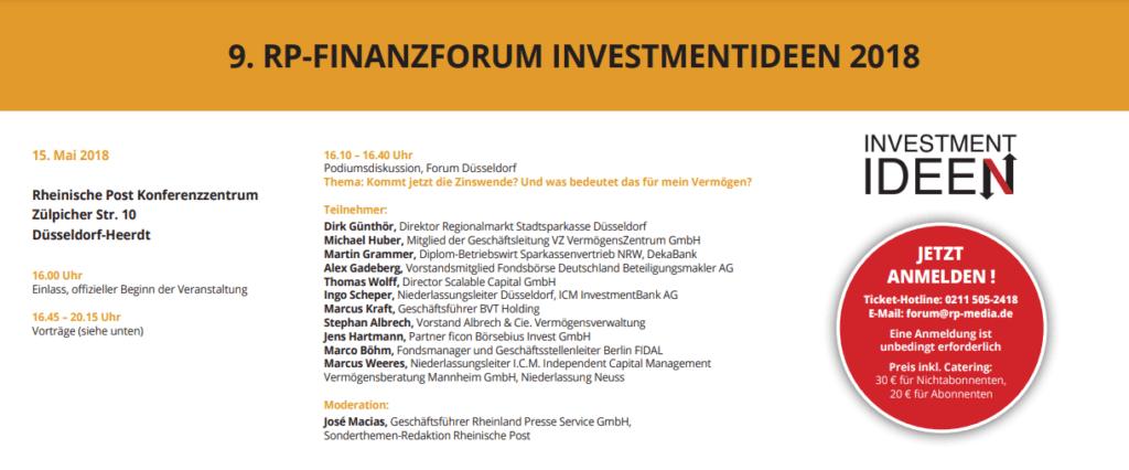 9. RP-FINANZFORUM Investmentideen 2018
